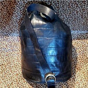 Nordstrom brand black leather sling/one shoulder